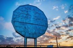 Big Nickel Landmark. Ontario Canada during sunset Stock Photos