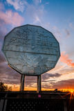 Big Nickel landmark in Sudbury, Ontario. Canada during sunset Stock Photos