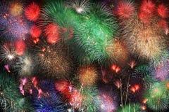 Big night fireworks Stock Image