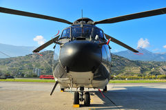 Big Nose. Th 98 heilcopter, used as a military transport helicopter in the swiss air force Royalty Free Stock Photos