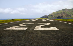 Big number 23 on an abandoned airport runway Royalty Free Stock Images