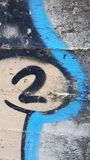 Big number 2. Colours and numbers stock photo