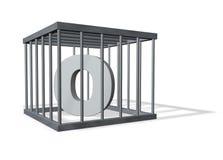 Big O in a cage Stock Photos
