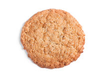 Big oatmeal cookie. Isolated on white background Royalty Free Stock Images