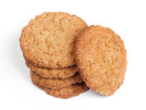 Big oatmeal cookies Royalty Free Stock Images