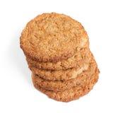 Big oatmeal cookies Stock Photos