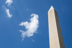 The big Obelisk with the blue sky background, Washington monumen Stock Photo