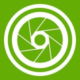 Big objective icon green Royalty Free Stock Images