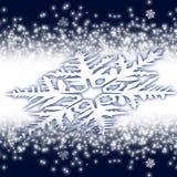 Big obliquely snowflake Royalty Free Stock Photo