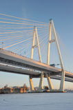 Big Obukhovsky bridge (cable-stayed) Stock Photos