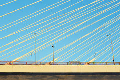Big Obukhovsky bridge (cable-stayed) Stock Photo