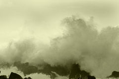 Ocean storm 9. Big ocean storm ( Commander Islands Royalty Free Stock Photos