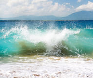 Big ocean wave, Atlantic Ocean, Dominican Republic Royalty Free Stock Images