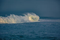 Big ocean wave in beautiful light Stock Photos