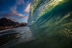 Big ocean wave in beautiful light Royalty Free Stock Photos