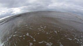 Big ocean wave breaking stock footage