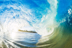 Big Ocean Wave tube daylight. One Crashing Blue Ocean Wave Royalty Free Stock Images