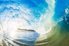 Big Ocean Wave tube daylight. One Crashing Blue Ocean Wave Royalty Free Stock Images
