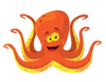 Big octopus. Illustration of a big octopus Stock Photo