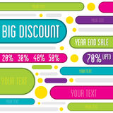 Big offer discount banner Stock Photography