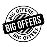 Big Offers rubber stamp Royalty Free Stock Image