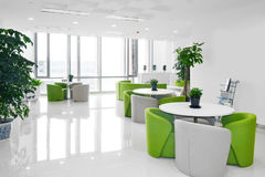 Big office lounge. With modern decoration Royalty Free Stock Photos