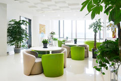 Big office lounge. With modern decoration Stock Image