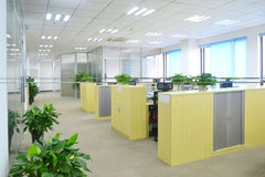 Big office. With modern decoration Royalty Free Stock Images