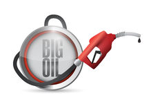 Big oil gas pump illustration design Royalty Free Stock Photography