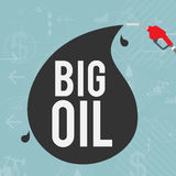 Big Oil Industry Concept. Vector illustration of big oil industry concept Royalty Free Stock Photography