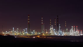 Big oil refinery at night Royalty Free Stock Photography