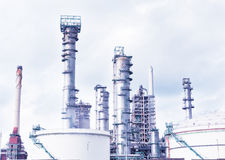 Big oil refinery Stock Image