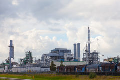 Big oil refinery Royalty Free Stock Image