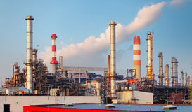 Big oil refinery of a sky background Royalty Free Stock Photos