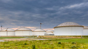 Big oil tank terminal Stock Photography