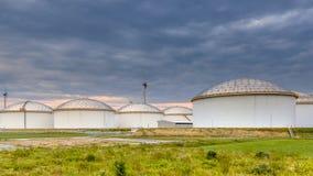 Big oil tank terminal Stock Photography