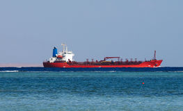 Big oil tanker. In Red sea Stock Images