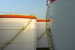 Big oil tanks Royalty Free Stock Images