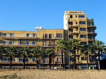 Big and old. An old big building in Nicosia, Cyprus Royalty Free Stock Photography