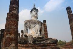 Big old Buddha image Royalty Free Stock Photo