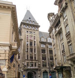 Big old building in Bucharest , Universul Shop Royalty Free Stock Photos