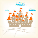 Big old castle vector illustration Stock Images