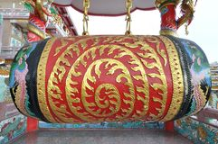 Big old chinese drum Stock Images