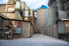 Big old Factory. Big old concrete factory. Manufacturing process Royalty Free Stock Photos