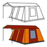 Big camping tent Stock Photo