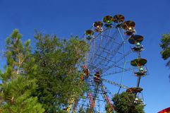 Big old ferris wheel. Royalty Free Stock Photos