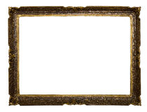 Big old frame isolated Royalty Free Stock Images