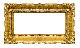 Big and old gold picture frame royalty free stock images