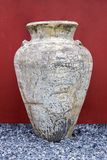 Big old jar on gravel Royalty Free Stock Photography