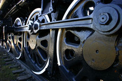 Big Old Locomotive Wheels royalty free stock photo